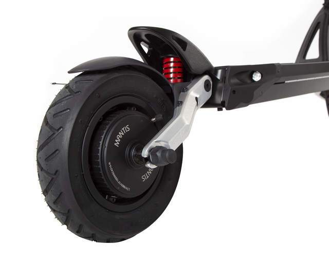 kaabo mantis elite electric scooter rear wheel suspension