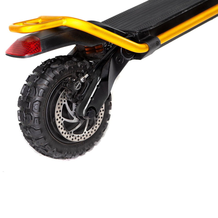 kaabo wolf king electric scooter gold rear wheel