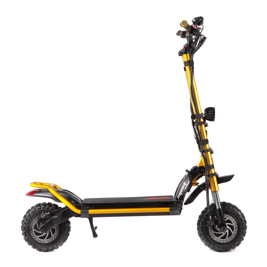 kaabo wolf king electric scooter gold side