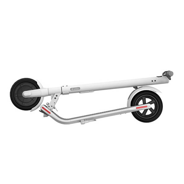 Segway e22 escooter white folded
