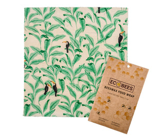 Eco-Bees Beeswax Food Wrap - Leafy Design (Variety Pack x3)