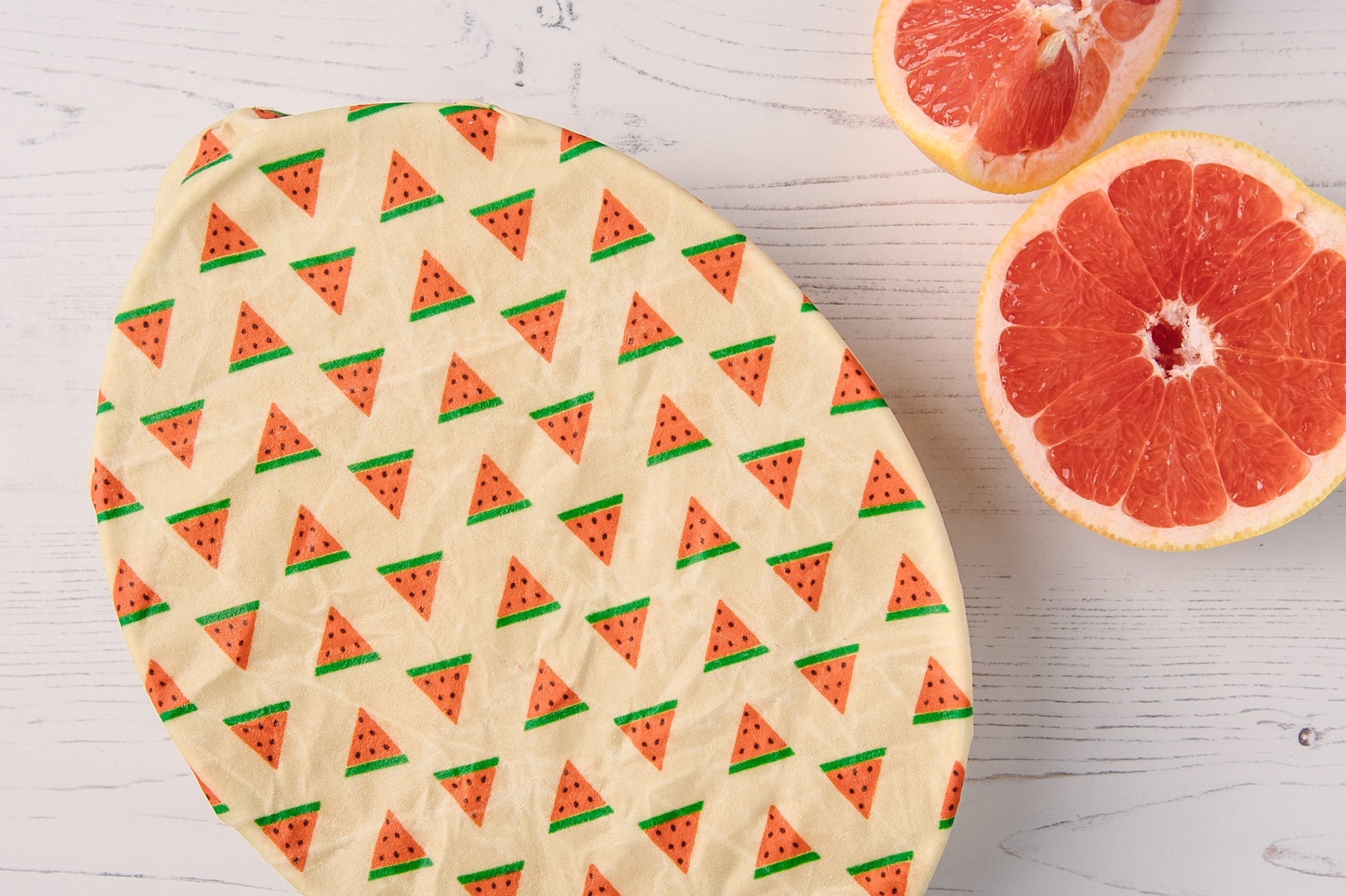 Eco-Bees Beeswax Cling Film Alternative Food Wrap - Melon Design (Variety Pack x3)