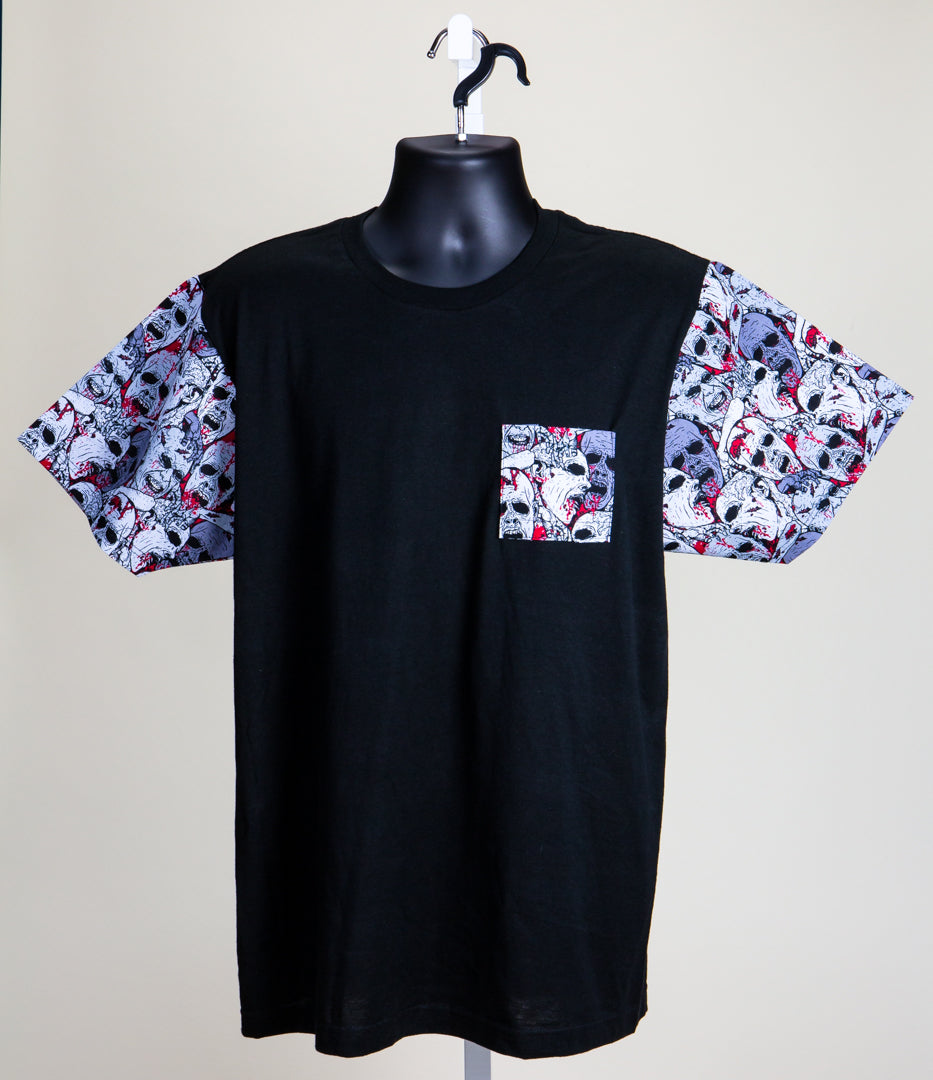 DOSOS Custom Pocket & Sleeve Black Tee (1 of 1)