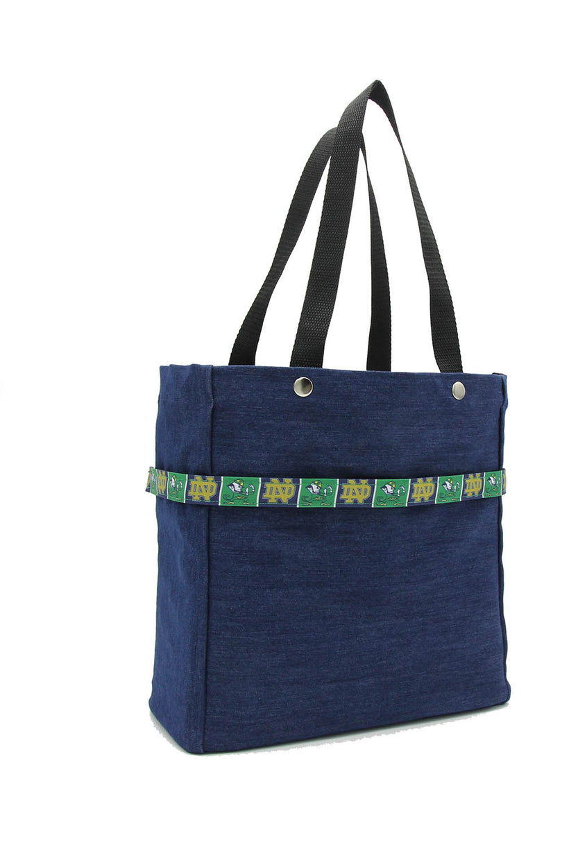 College Ribbon Tote Bags