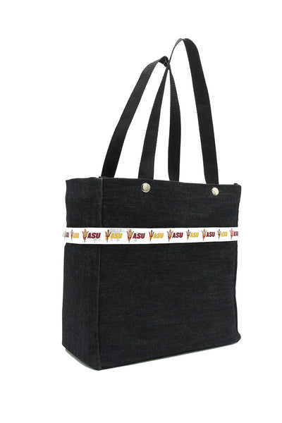 Clear stadium bag with Arizona State Sun Devils sleeve