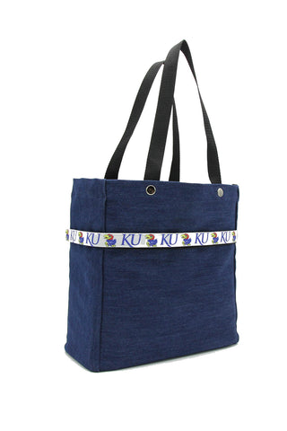 Clear stadium bag with Kansas Jayhawks sleeve