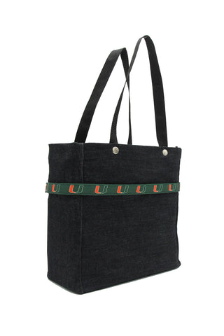 Clear stadium bag with Miami Hurricanes sleeve