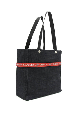 Clear stadium bag with Stanford Cardinal sleeve