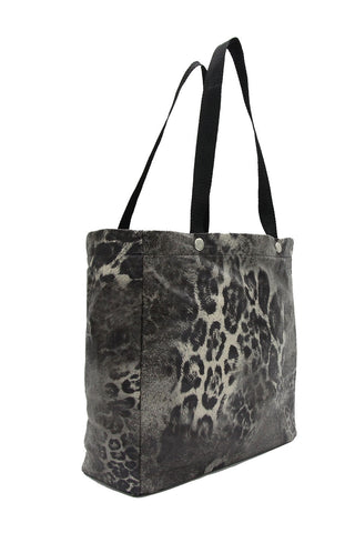 Original Tote - Leopard Print Faux Leather