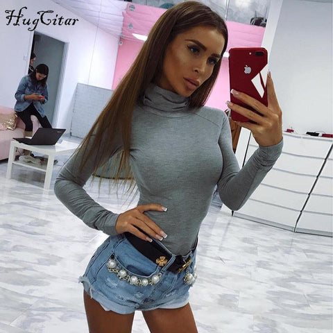 Roll Neck Long Sleeve Body Suit