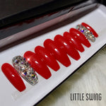 Fire Engine Swarovski Crystal Set