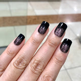Ready to Ship I Short Square Black Shimmer Set