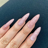 Ready to Ship I Long Stiletto Rose Quartz Set