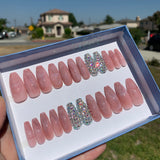 Ready to Ship I Rose Quartz Bling Set (KDS Glue Included)