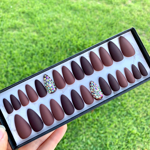 Ready to Ship I Luxury Brown Crystal Set (KDS Glue included)