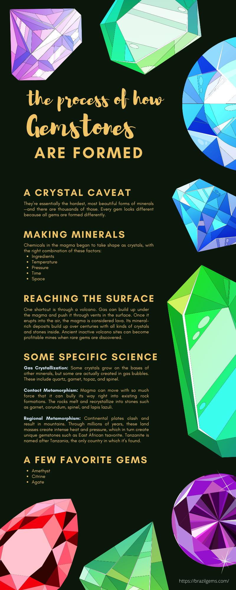 The Natural Process of How Gemstones Are Formed