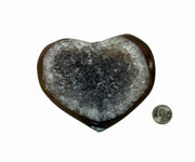 Heart-shaped Brazilian Agate geode stone, 1.6 lbs, 4.75""