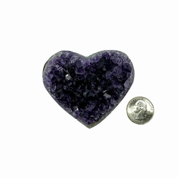 Heart-shaped Amethyst geode, 0.4 lbs