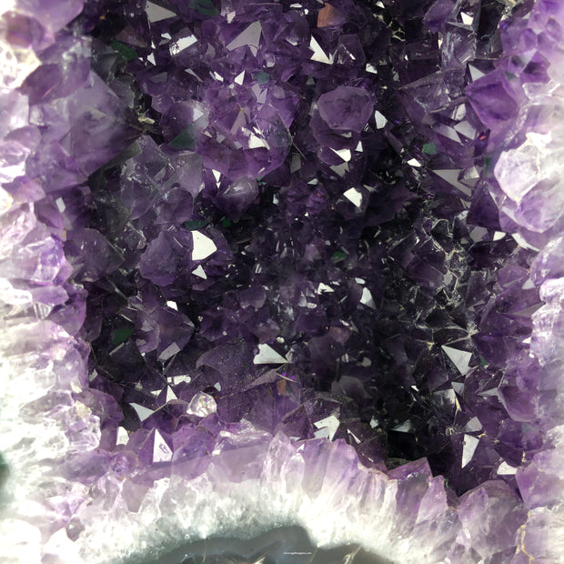 "Quality Amethyst Geode Cathedral, Medium size, 14.75"" tall and 41 lbs heavy"