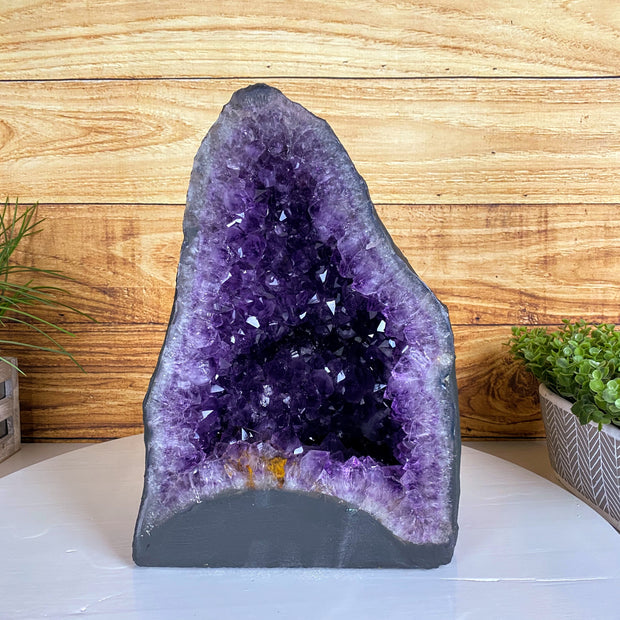 "Extra Quality Brazilian Amethyst Cathedral, 14"" tall & 41 lbs (5601-0035)"