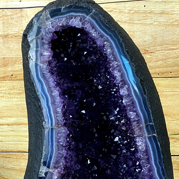 "Quality Amethyst Geode Cathedral, 15.5"" tall and 32 lbs heavy (5601-0017)"