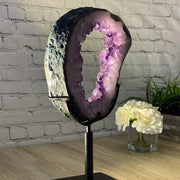 "Large Brazilian Amethyst Druse on Rotating base, 21.5"" tall & 23.54 lbs (5604-0017)"