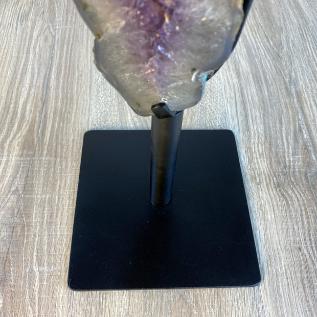 "Large Brazilian Amethyst Druse on Rotating base, 24.5"" tall & 22 lbs (5604-0015)"