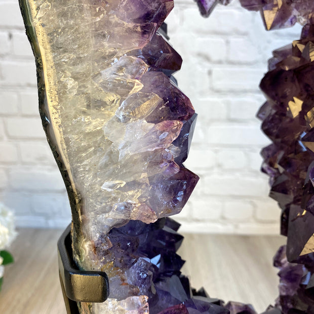 "Large Brazilian Amethyst Druse on Rotating base, 24"" tall & 36 lbs (5604-0020)"