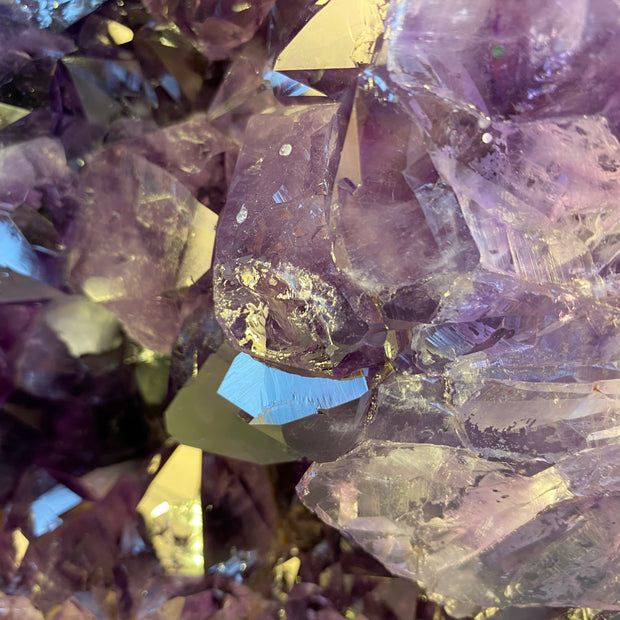 "Quality Brazilian Amethyst Cathedral, 15"" tall & 38 lbs (5601-0065)"