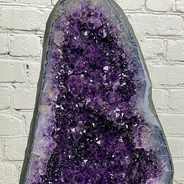 "Large Quality Brazilian Amethyst Cathedral, 32.25"" tall & 113 lbs (5601-0057)"
