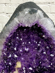 "Large Quality Brazilian Amethyst Cathedral, 19.75"" tall & 87.6 lbs (5601-0056)"