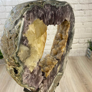 "Large Brazilian Amethyst Druse on Rotating base, 28.75"" tall & 84 lbs (5604-0025)"