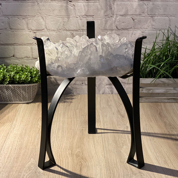 "Top Quality Clear Quartz Coffee Table, 17.75"" Tall & 39 lbs weight (1389-0002)"