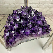 "Super Quality Amethyst Geode Coffee Table, 43.3 lbs & 18"" tall, Chrome base (1387-0005)"