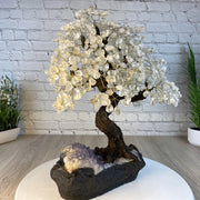 "Large Handmade Gemstone Tree, Crystal, 25"" tall, 144 branches and 720 gemstones (5407-0012)"