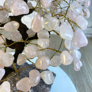 "Large Handmade Rose Quartz Gemstone Tree, 25"" tall, 720 gems (5407-0019)"