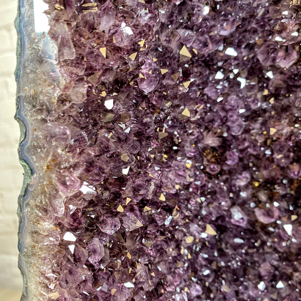 "Quality Large Brazilian Amethyst Cathedral, 31.8"" tall & 114 lbs (5601-0140)"