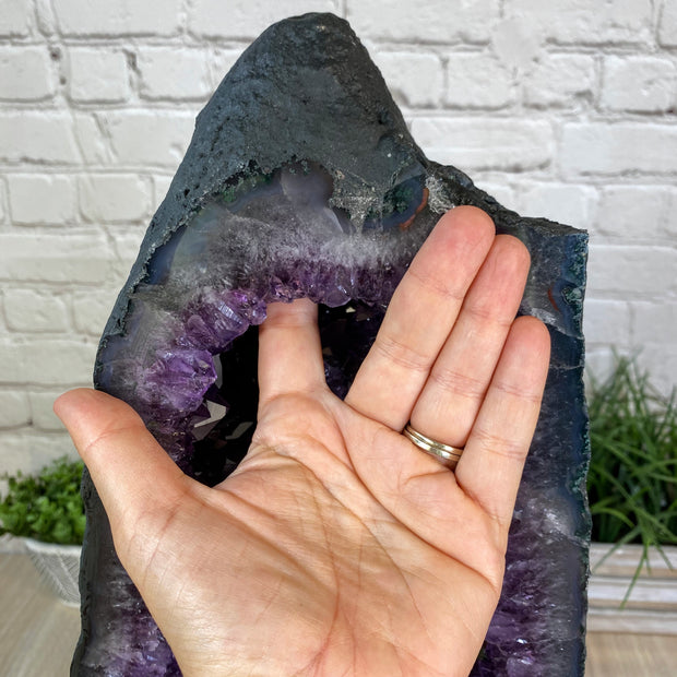 "Extra Quality Large Brazilian Amethyst Cathedral, 26.5"" tall & 81.9 lbs (5601-0161)"