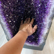 "Super Quality Large Brazilian Amethyst Cathedral, 28.5"" tall & 91.8 lbs (5601-0174)"
