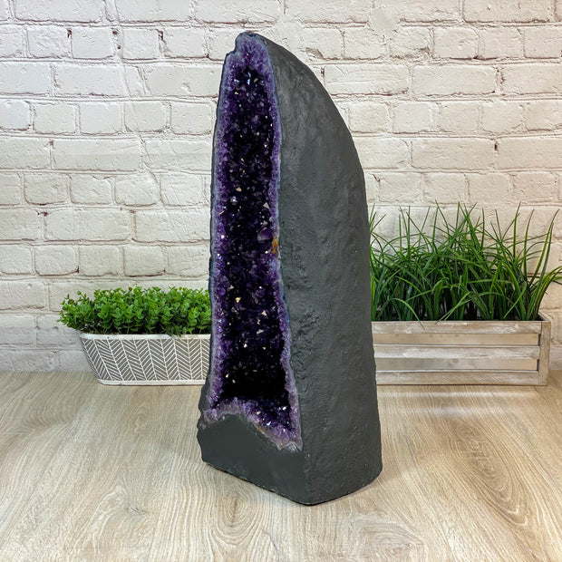 "Super Quality Large Brazilian Amethyst Cathedral, 25.5"" tall & 74 lbs (5601-0172)"