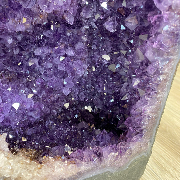 "Extra Quality Large Brazilian Amethyst Cathedral, 23.1"" tall & 93 lbs (5601-0177)"