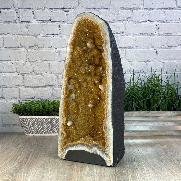 "Quality Citrine Cathedral, 21.25"" tall and 46.61 lbs weight (5603-0023) by Brazil Gems"