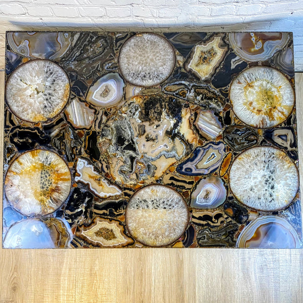 "Handmade All Natural Brazilian Agate Coffee table, 40"" x 30"" and 20"" Tall (1103-0001)"