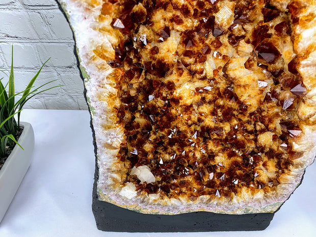 "Large Quality Citrine Geode Cathedral, 21"" tall and 50 lbs heavy (5603-0001)"