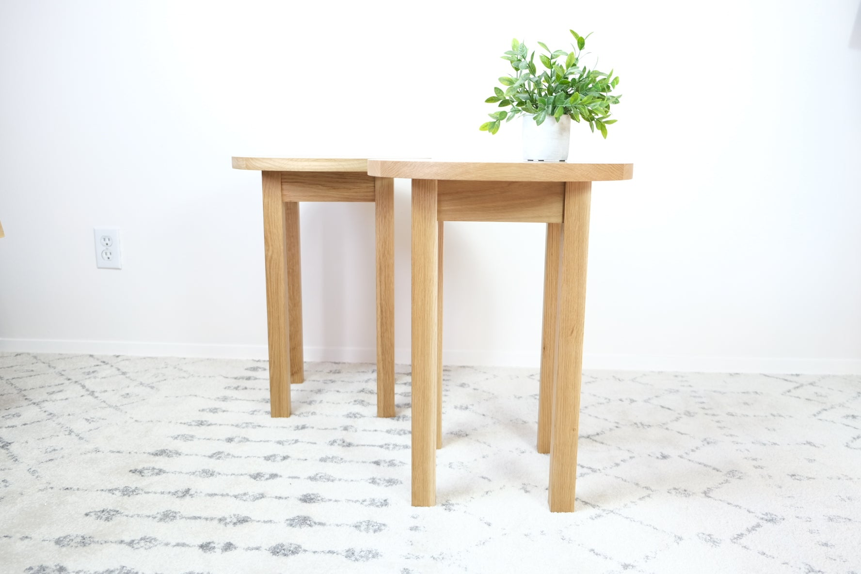 Solid White Oak Side Tables