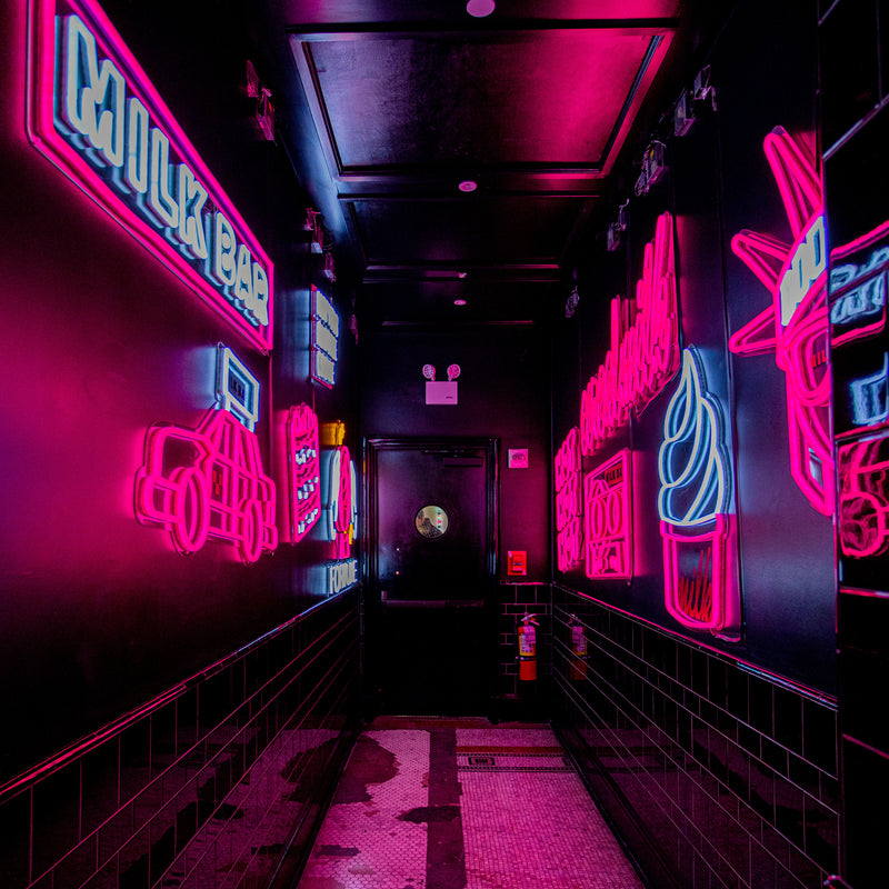neon alley at nyc flagship