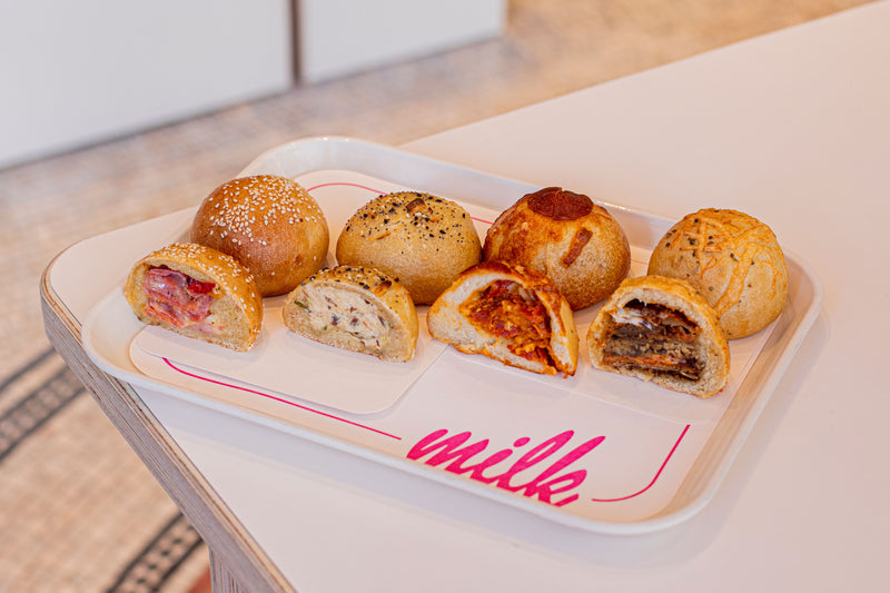 bagel bombs on milk bar tray