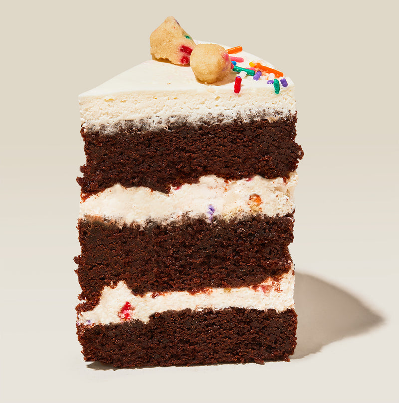 Chocolate Birthday Cake Slice