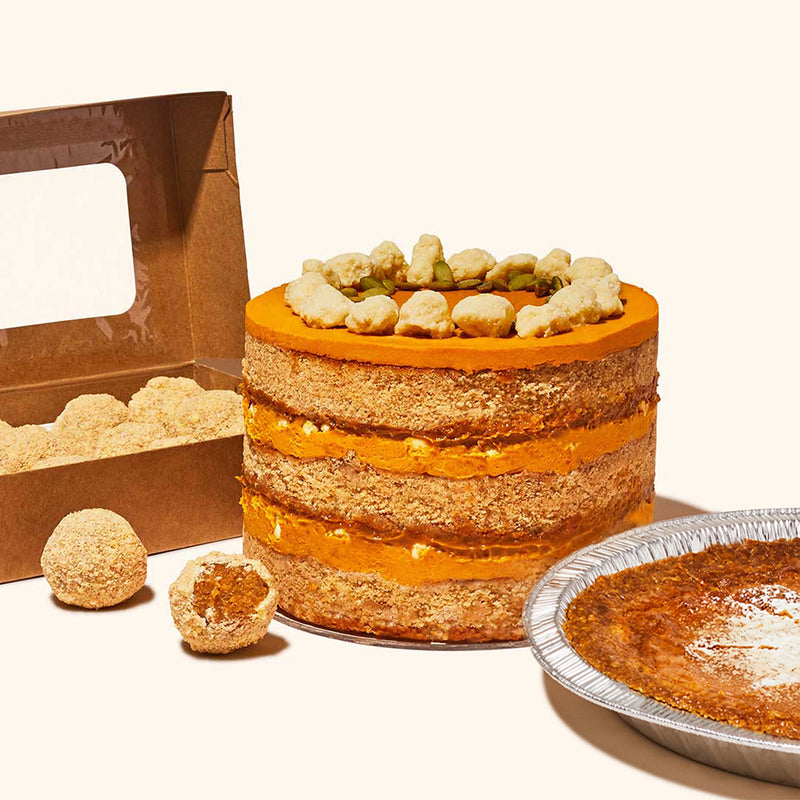 Pumpkin Dulce de Leche Cake, Truffle Dozen Box and Milk Bar Pie
