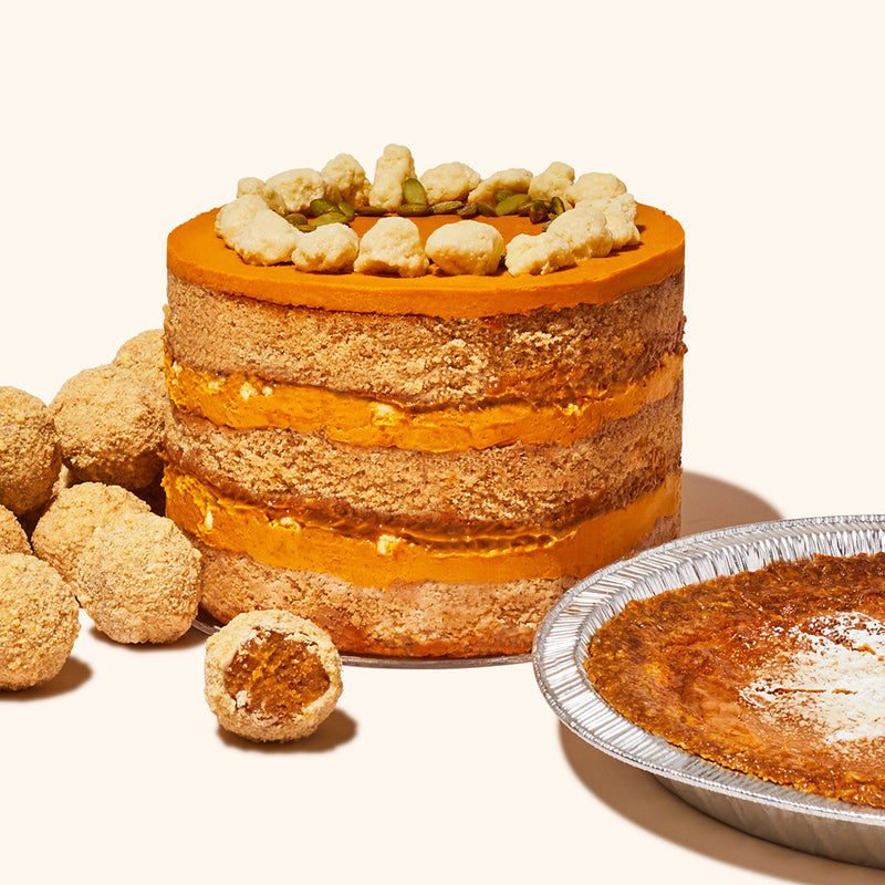 Pumpkin Dulce de Leche Cake, Truffles and Milk Bar Pie